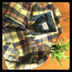 Vintage Wool Flannel Button Up Shirt